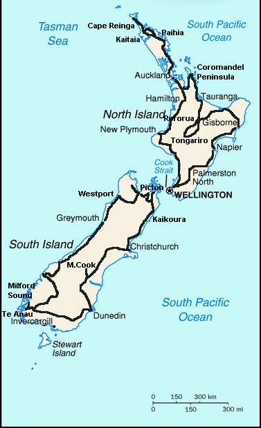 Cartina Muta Nuova Zelanda.Nuova Zelanda 2002